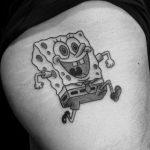 tatouage bob l'éponge